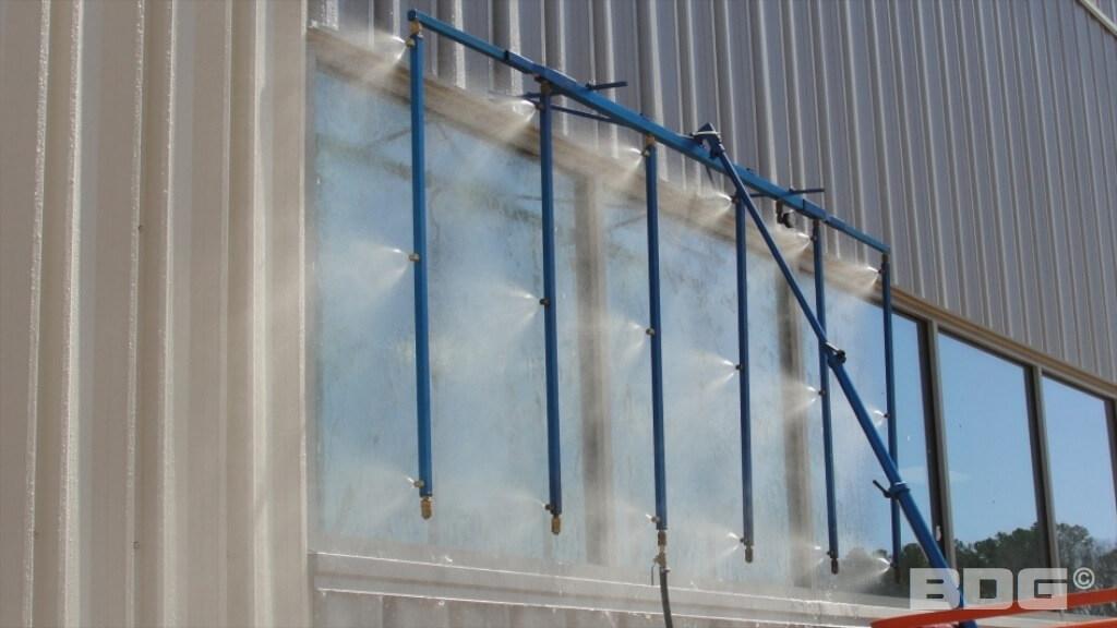 Test water penetration walls