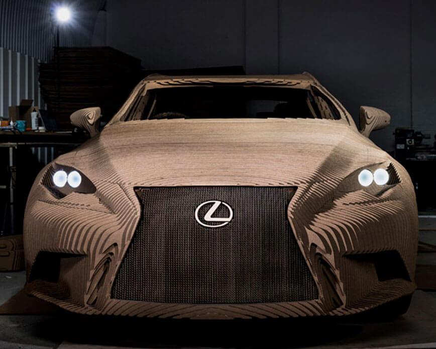 Lexus, Splicing Tape and Innovative Cardboard Designs | ECHOtape